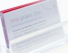 Corporate Design für HNO-Praxis in Steglitz