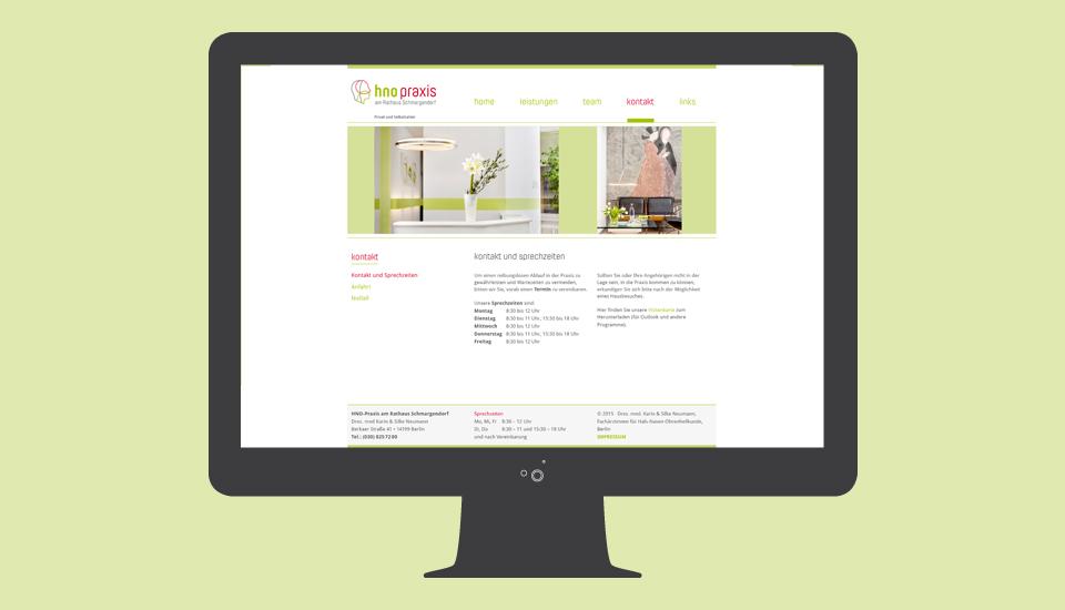 Website-HNO-Neumann-Kontakt-Sprechzeiten